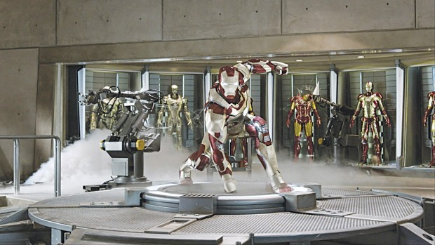 Downey pushes the suit in 'Iron Man 3'