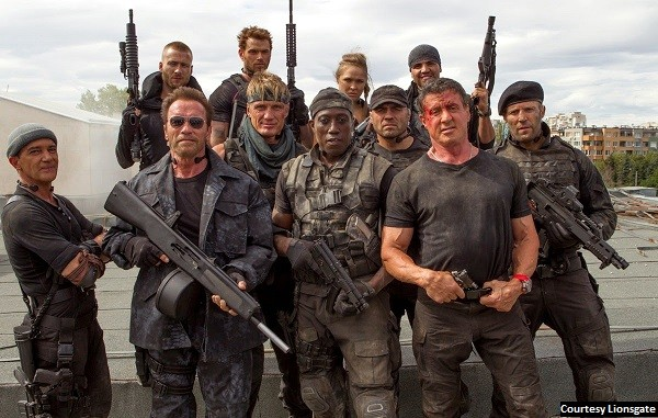 'The Expendables 3' action stars all at different places in career