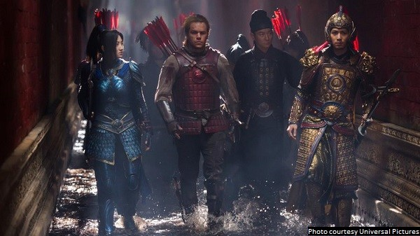 'The Great Wall' has some initial promise, but then it squarely lands as a really glossy B-movie