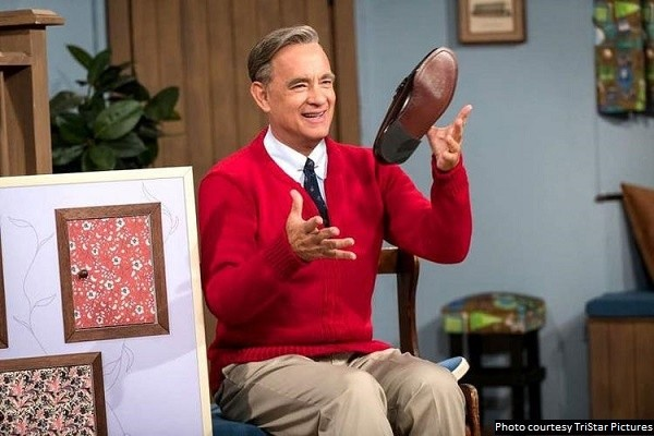 Hanks perfectly embodies Mister Rogers in 'A Beautiful Day in the Neighborhood'